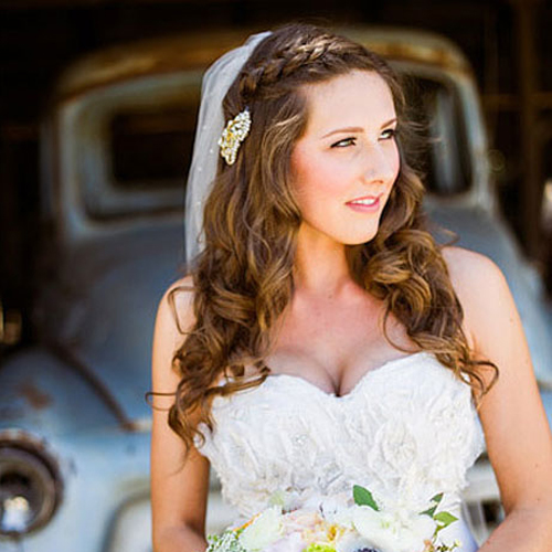 Long Wedding Hairstyles With Veil: Lake Tahoe Wedding & Hair